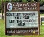Church worry sign