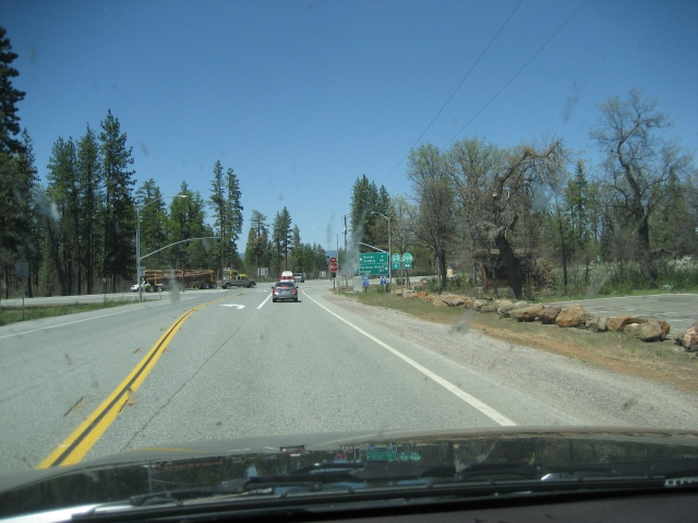 See that logging truck?  You do not want to get behind one of those on these two lane roads.  I got behind one of those.