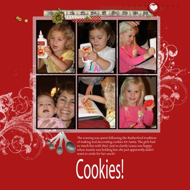 2x baking cookies