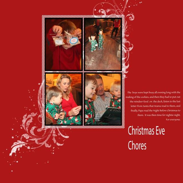 3x Christmas Chores