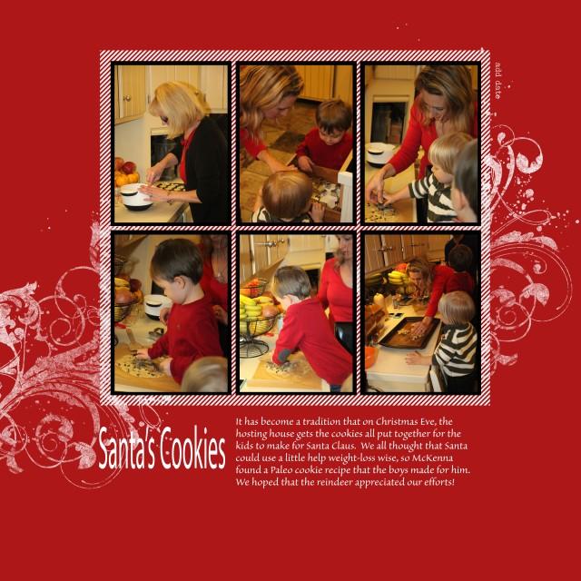 3x Santas cookies
