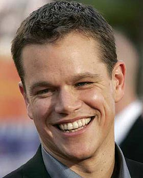 Image gallery matt damon smile for Domon olivier